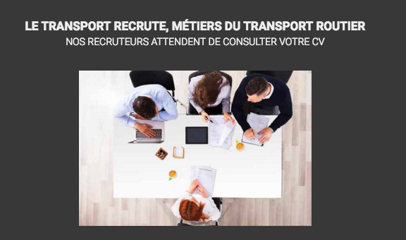 Le monde du transport embauche et forme ses futurs collaborateurs